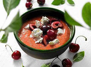 Gazpacho czereśniowe z fetą