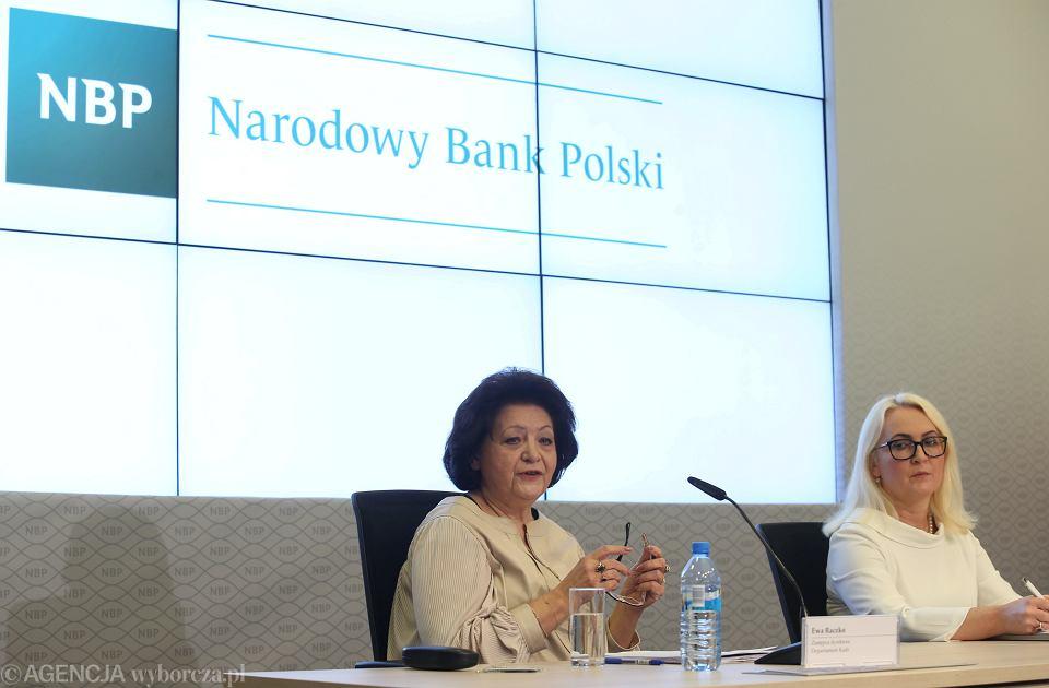 Konferencja prasowa w Narodowym Banku Polskim w Warszawie w sprawie wysokości zarobków pracowników, Warszawa 09.01.2019.