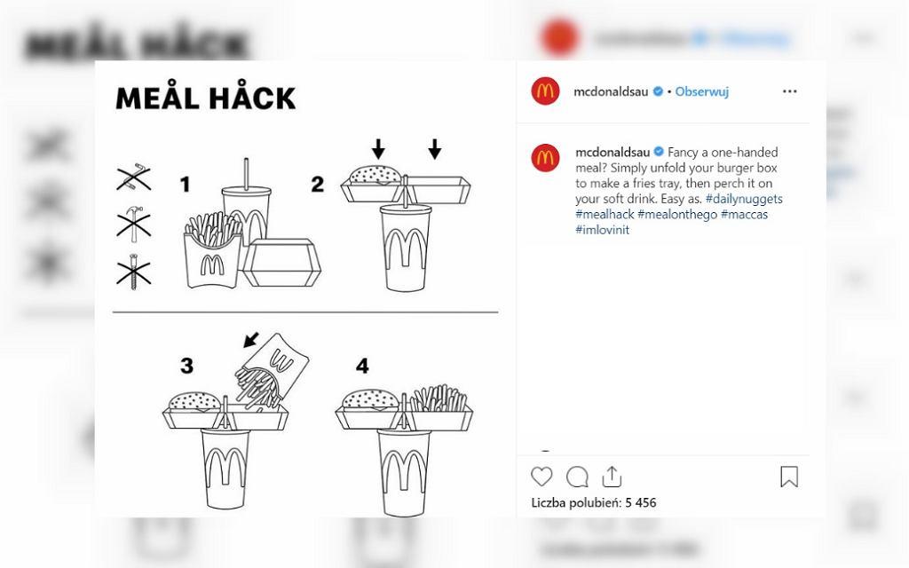 McDonald's zdradza, jak jeść ich zestawy, kiedy ma się zajęte ręce [TRIK]