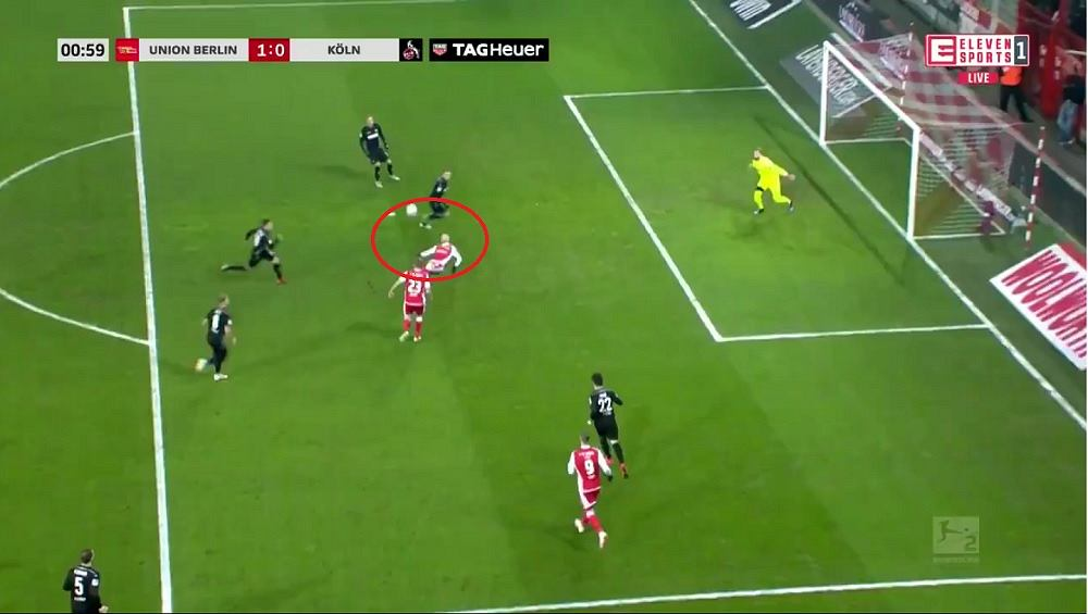 Gol z meczu Union Berlin - FC Koeln
