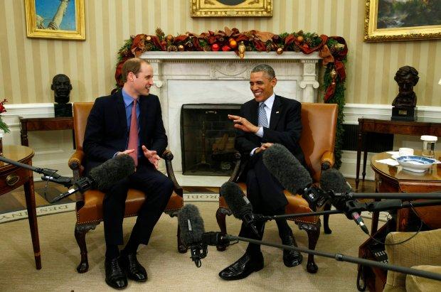 Książę William i prezydent Obama