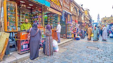 Sklepik z perfumami w kompleksie handlowym w Kairze