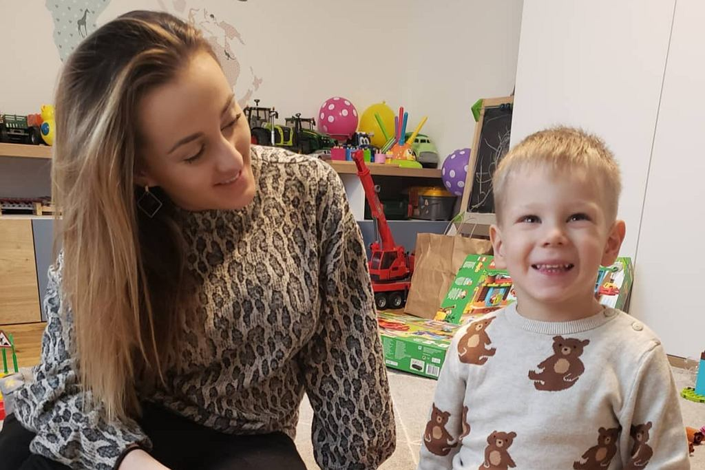Anna Bardowska z synem