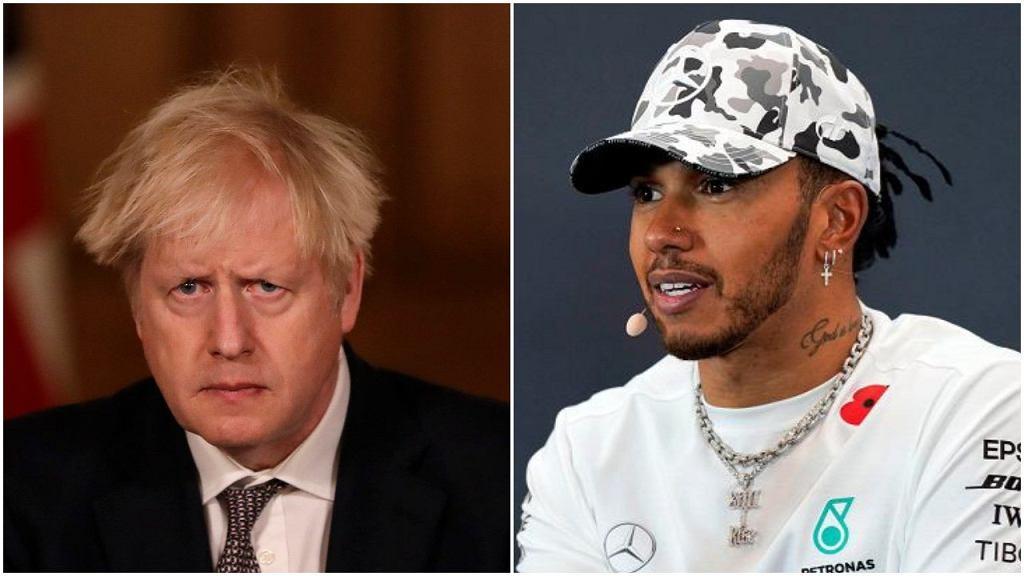 Boris Johnson nada tytuł szlachecki Lewisowi Hamiltonowi