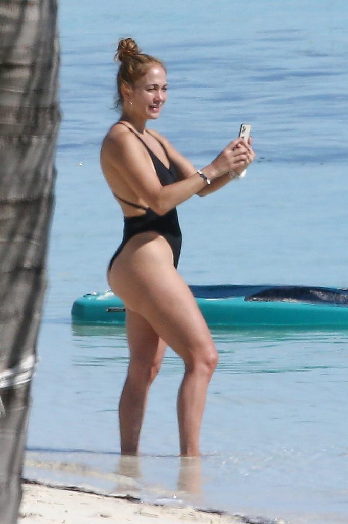 Jennifer Lopez na plaży