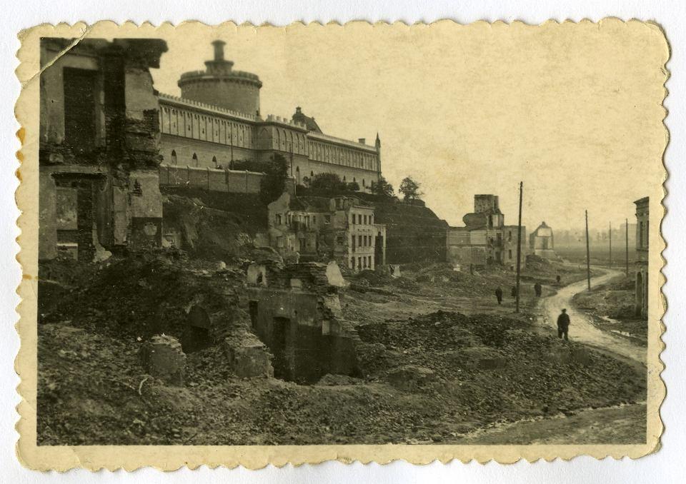 Ruiny Podzamcza, ok. 1943, fot. NN.