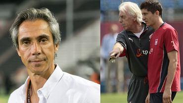 Paulo Sousa (obecny selekcjoner) oraz Leo Beenhakker (były selekcjoner; Wronki 2008 rok). Źródło: Agencja Gazeta