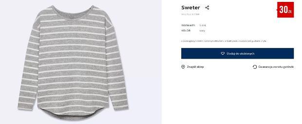 PEPCO. Sweter za 30 złotych