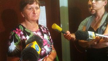 Pani Barbara po ogłoszeniu wyroku