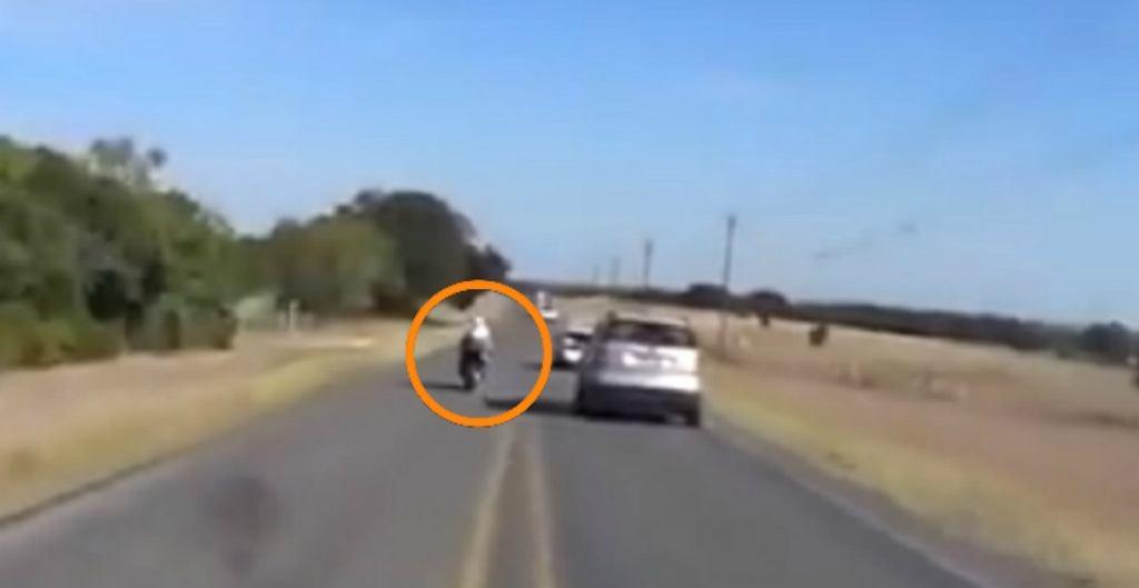 Specjalnie zajechał drogę motocyklistom