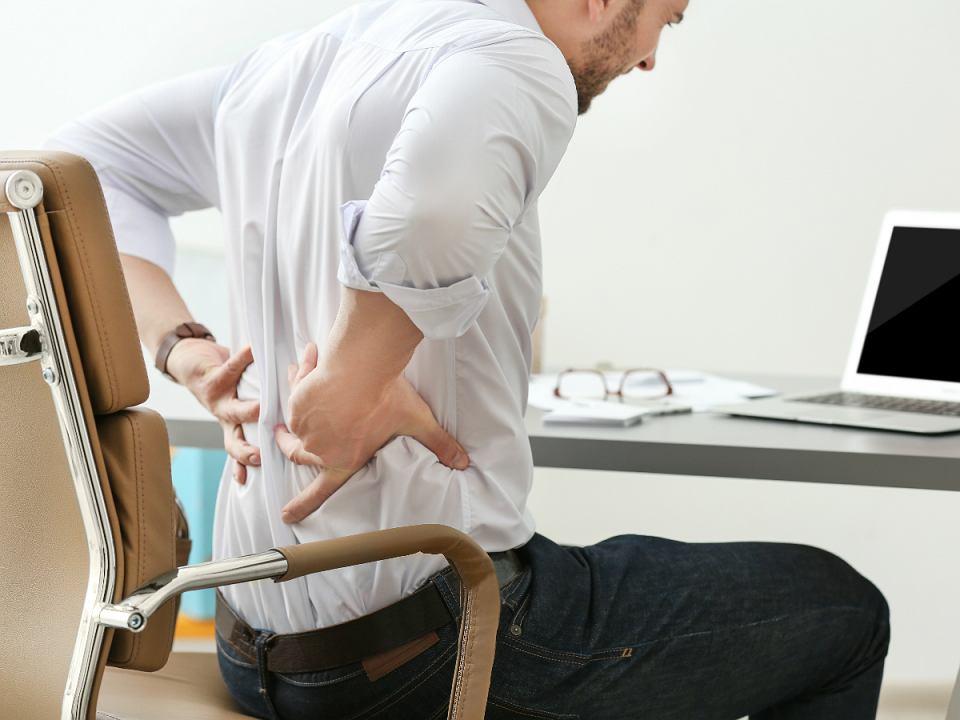 Krzesło biurowe - oparcie