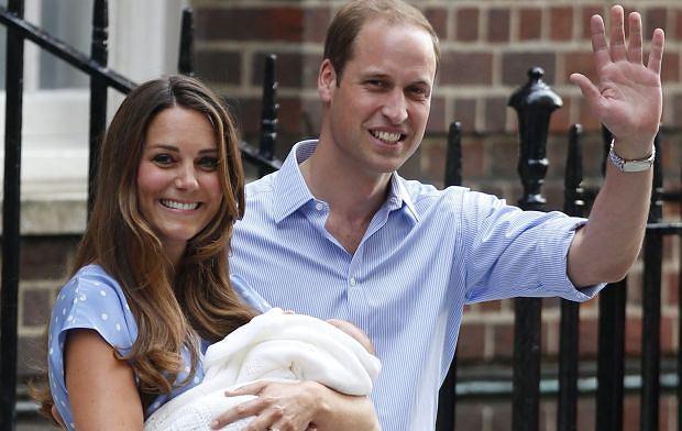 Księżna Kate i książę William wraz z synkiem