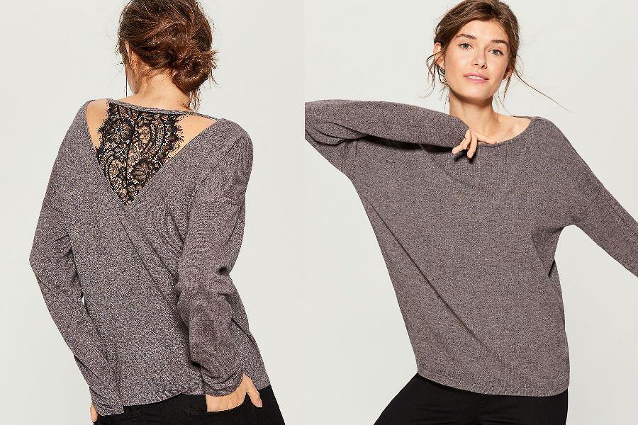 Sweter z ozdobnym tyłem Mohito
