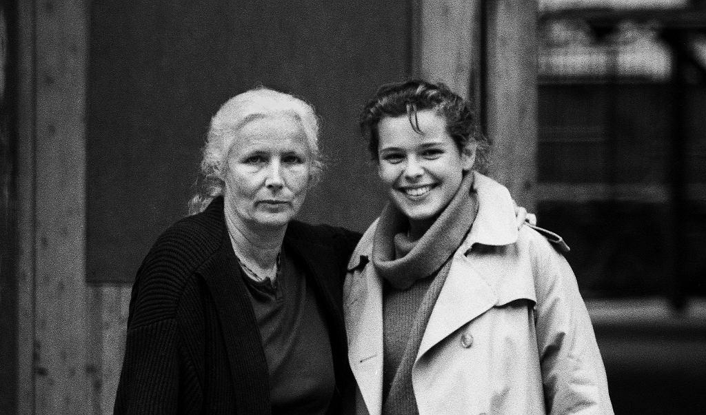 Agnieszka Osiecka z córką, 1991 rok