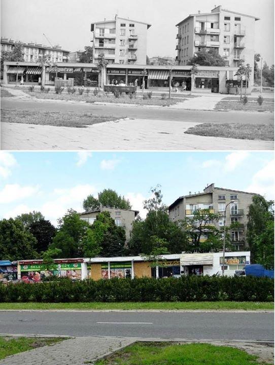 ulica Kasprowicza w 1969 roku i współcześnie