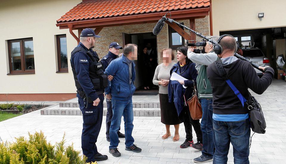 Moment zatrzymania podczas kręcenia programu Elżbiety Jaworowicz