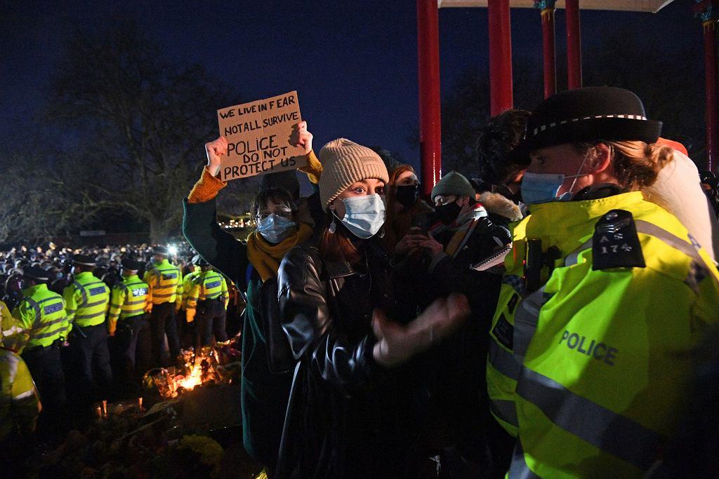 Wielka Brytania protesty po śmierci Everard
