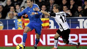 Cristiano Ronaldo w meczu z Valencią