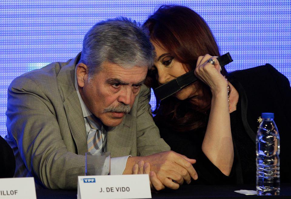 Minister planowania Julio De Vido i była prezydent Argentyny Claudia Fernandez Kirchner.