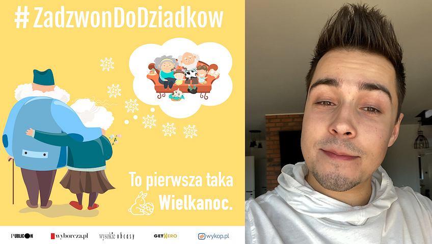 Polski youtuber Remigiusz 'reZigiusz' Wierzgoń w kampanii #ZadzwonDoDziadkow