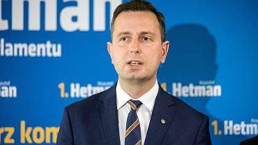 Prezes PSL Władysław Kosiniak-Kamysz podczas konferencji prasowej podsumowującej kampanię wyborczą do europarlamentu. 23.05.2019, Lublin