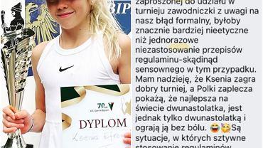 Ksenia Jefremowa i wpis głównego trenera PZT o niej