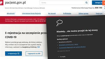 Awaria serwisu Pacjent.gov.pl