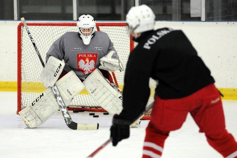 Trening reprezentacji Polski do lat 18 w hokeju na lodzie w Poznaniu