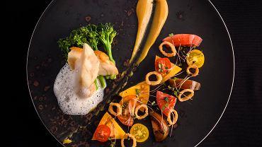 Danie z menu degustacyjnego w restauracji Winosfera