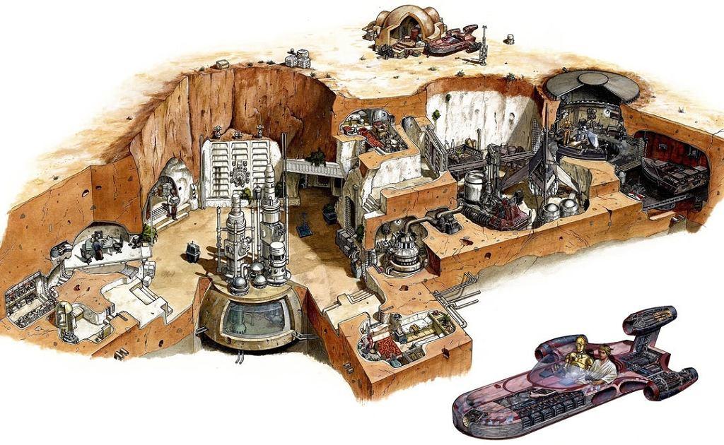 Wnętrze rodzinnego domu Luke'a Skywalker'a z filmu Nowa Nadzieja