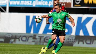Tomasz Nowak w meczu Piast Gliwice - Górnik Łęczna 3:0