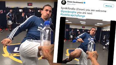 #Bottlecapchallenge w wykonaniu Zlatana Ibrahimovicia