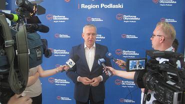 Konferencja posła Roberta Tyszkiewicza