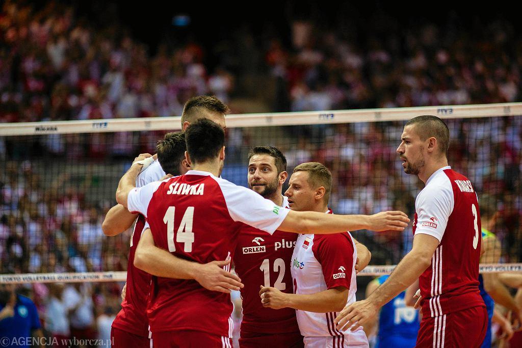Turniej kwalifikacyjny siatkarzy w Gdańsku do igrzysk olimpijskich w Tokio. Mecz Polska - Słowenia.