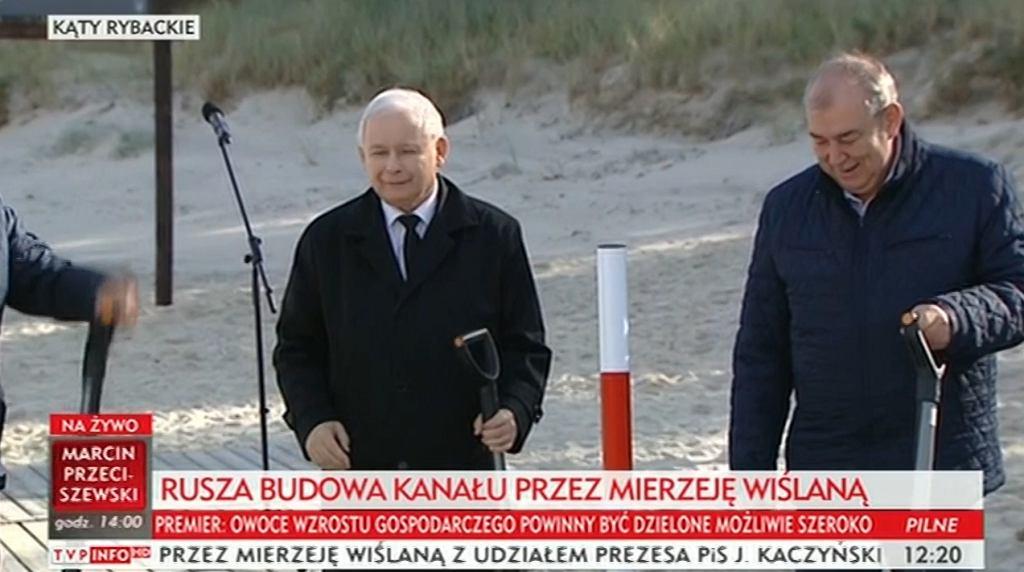 Jarosław Kaczyński na inauguracji przekopu Mierzei Wiślanej