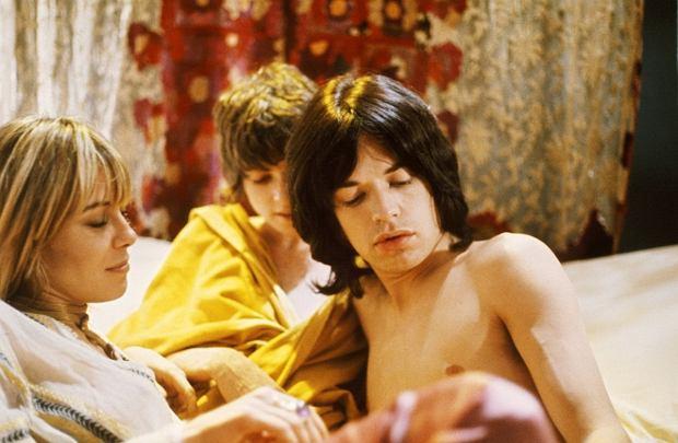@PERFORMANCE, Anita Pallenberg, Michele Breton, Mick Jagger, 1970