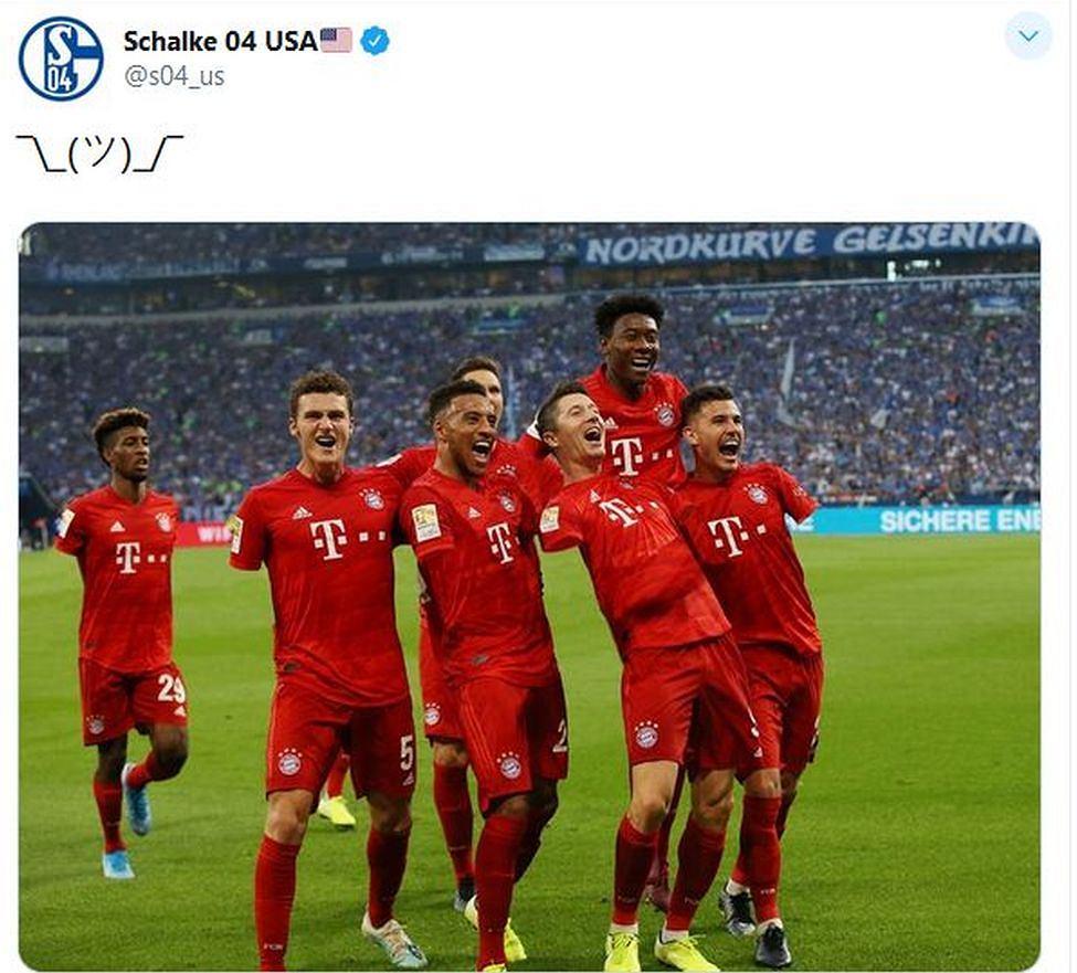 Tweet oficjalnego profilu Schalke