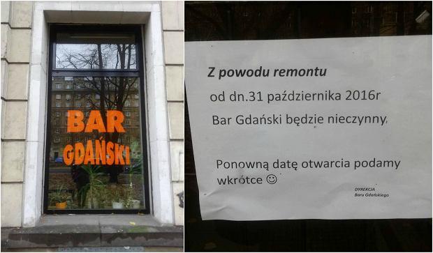 Bar mleczny Gdański na Muranowie przechodzi remont.