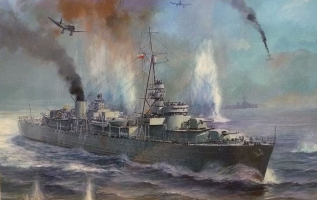 Zdjęcie numer 0 w galerii - Polskie okręty malowane na pocztówkach - pierwszy raz od lat 30.