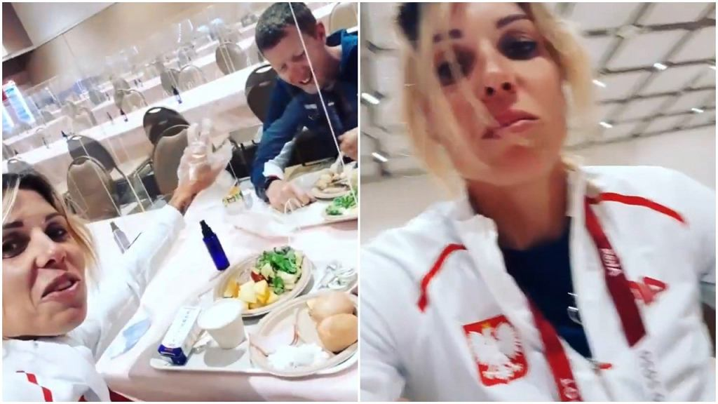 Zofia Klepacka pokazała, jak wygląda stołówka olimpijska