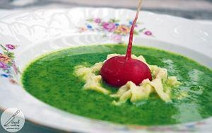 Zupa krem z liści rzodkiewek
