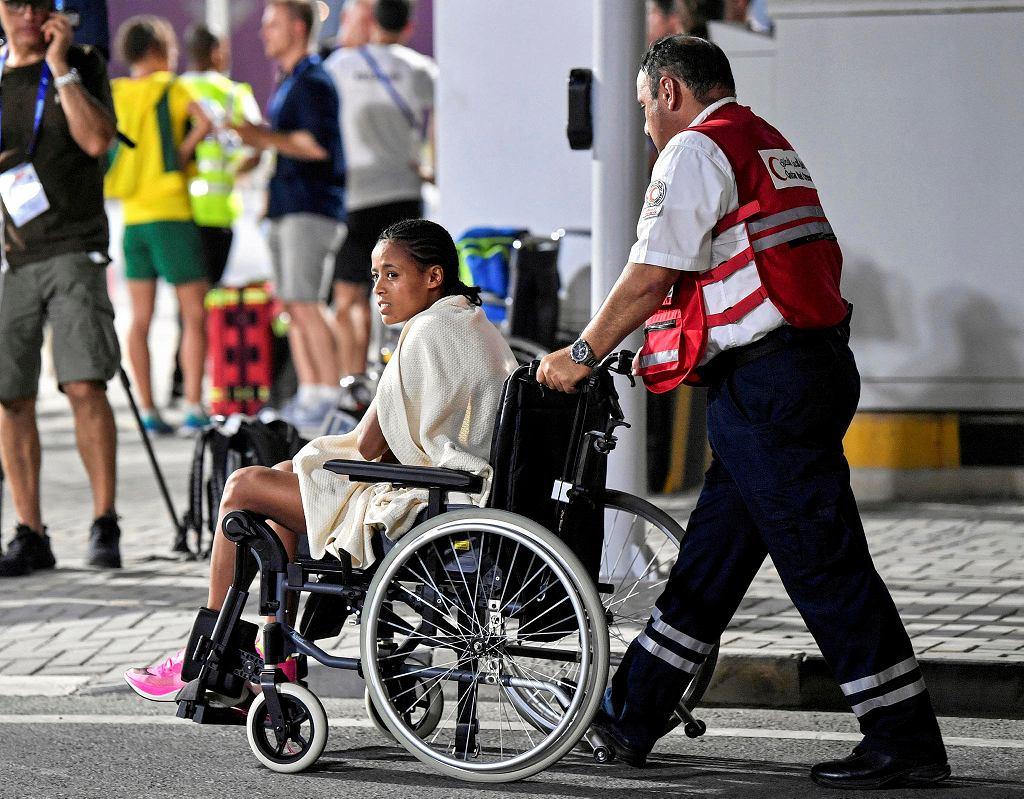 Mistrzostwa świata w lekkoatletyce 2019. Uczestniczka maratonu na wózku