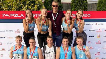 Ekipa ALKS AJP Gorzów na lekkoatletycznych mistrzostwach Polski U20, wrzesień 2020 r.