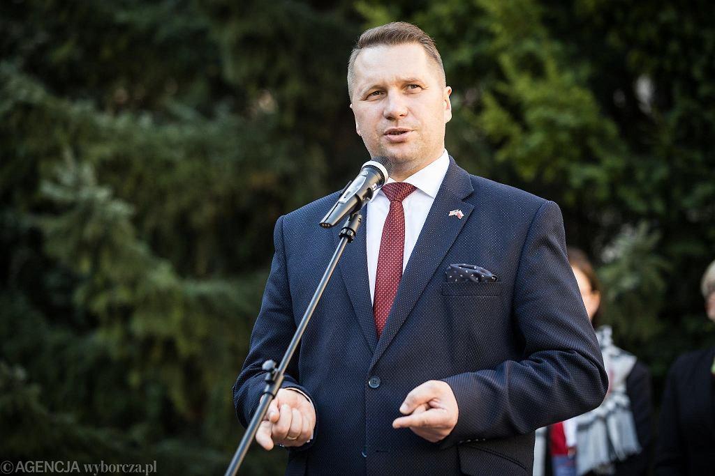 Wojewoda lubelski Przemysław Czarnek podczas Kongresu Polsko - Amerykańskiego ''100 lat wspólnego dziedzictwa' . Lublin, 11 października 2018