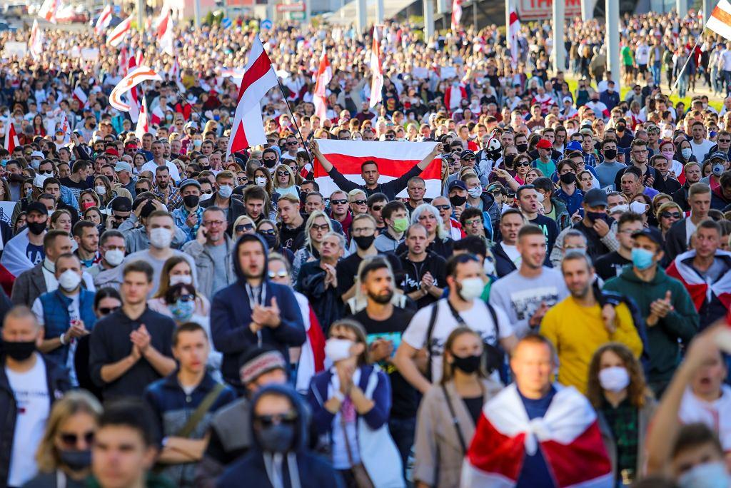 Białoruś. Demonstracja opozycji w Mińsku