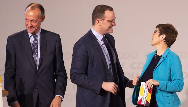Kandydacie na szefa CDU: Friedrich Merz, Jens Spahn i Annegret Kramp-Karrenbauer