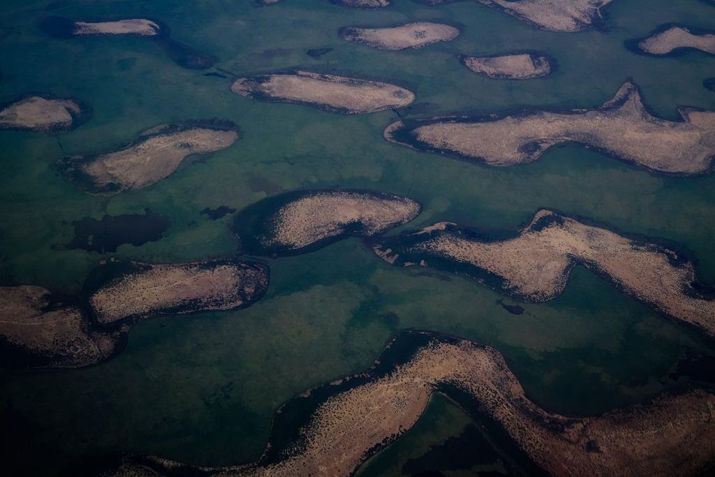 Jezioro Czad, zdjęcie lotnicze.
