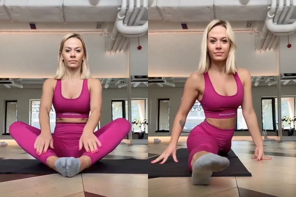Kasia Dziurska pokazuje stretching
