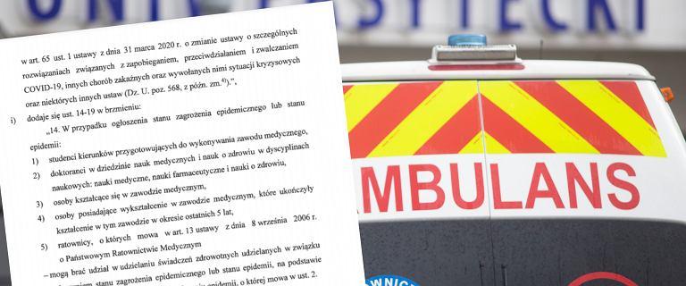 Projekt ustawy ws. mobilizacji lekarzy. Będą kary finansowe dla szpitali