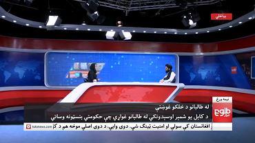 Wywiad z talibem w telewizji